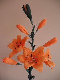 Kwiaty Z Bibuly Rekodzielo Bibulkowe Szalenstwo I Nie Tylko Lilia Paper Flowers Diy Paper Flowers How To Make Paper Flowers