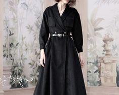 gray wool coat cashmere coat maxi coat in gray black Hooded Wool Coat, Cashmere Cape, White Linen Shirt, Bridal Skirts, Black Wool Coat, Lilac Dress, Party Skirt, Flattering Dresses, Wool Dress