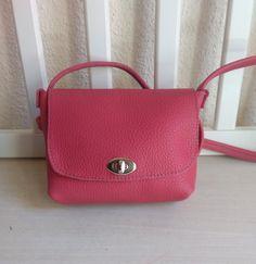 Bolso Bandolera Mujer de Cuero Rosa - Bolso para Mujer de Cuero - Bolso Bandolera Rosa - Bolso de Piel tamaño pequeño de JYNzapateros en Etsy