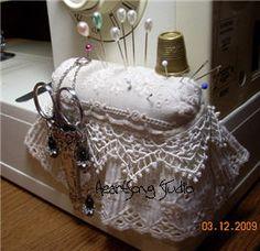 lace pincushion