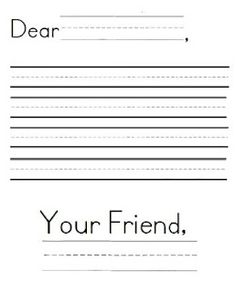Letter writing format for first grade friendly letter for Letter writing template for first grade