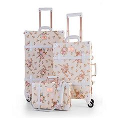 Pink Luggage, Cute Luggage, Carry On Luggage, Travel Luggage, Travel Bags, Cute Suitcases, Vintage Suitcases, Vintage Luggage, 3 Piece Luggage Set