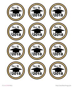 Printable graduation gift tags free pdf template to download and free graduation themed cupcake toppers just print cut and use for your graduation party negle Gallery