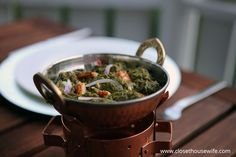 Wannabe restaurant copycat version of the delicious Indian Palak Paneer dish.