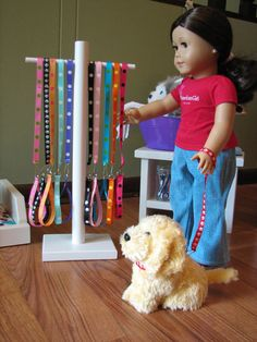 American Girl Doll Display Hanger Pampered by MadiGraceDesigns