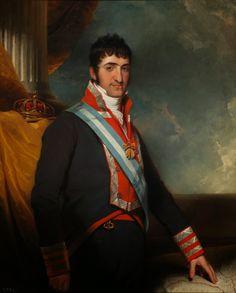 """William COLLINS, """"Retrato de Fernando VII de Borbón y Parma, Rey de Las Españas y de las Indias (1784-1833)""""; óleo sobre lienzo, c.1814."""