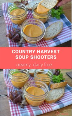 Country Harvest Soup Shooters - this is a nice creamy soup that is dairy free