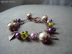 Woodland Sprite Faery Bracelet  OOAK  Purple by RainwaterStudios, $22.50