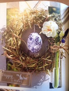 Egg wreath, from LandLove magazine (Mar/Apr16)