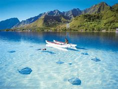 Bora Bora is an island in the Leeward group of the Society Islands of French Polynesia, an overseas collectivity of France in the Pacific Ocean. The island, located about 230 km northwest of Papeete, is surrounded by a lagoon and a barrier reef.