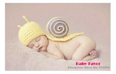 Free Shipping  1pc Kid Toddler Infant Newborn Baby Girl Boy Snail knitted Crochet Clothes Outfit Costume Photo Prop Halloween $11.99