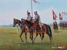 **husaria**-30x40-pliszak Modern Warfare, Eastern Europe, Wings, Military, Horses, Painting, Animals, Art, Historia