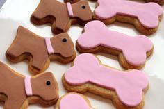 Galletas muy monas para una fiesta cachorro / Cute cookies for a Puppy Party