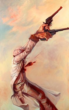 """Gabe Leonard """"Bite the Dust"""" 2007 Hand Embellished Giclee on Canvas from an edition of 75 32 x 21 inches Original Art http://distinctionart.com"""