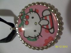 Hello Kitty Bottle Cap Necklace by ang744 on Etsy, $2.00