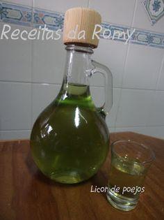 Receitas da Romy: Licor de poejos
