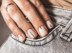 Diy Nails, Cute Nails, Pretty Nails, Acrylic Nail Designs, Acrylic Nails, Nail Art For Beginners, Lines On Nails, Neutral Nails, Nail Games