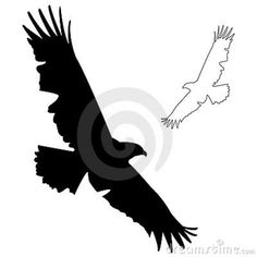 eagle silhouette vector illustration eagle silhouette silhouettes rh pinterest com Eagle Wings Tattoo Eagle Wings Tattoo