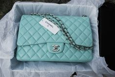 Every girl needs a tiffany blue chanel bag