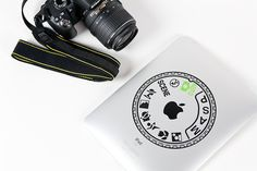 Camera Dial Laptop Decal from the photojojo store, adorn your laptops and tablets! (We've got you covered whether you're a Canon or Nikon kinda person) $18