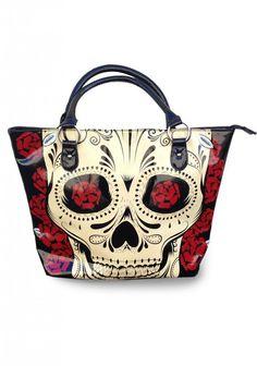 Big Day of the Dead Skull Handbag Sugar Skull http://www.inkedboutique.com
