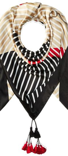 Steve Madden Twilled Nautical Flaf Scarf (Black) Scarves - Steve Madden, Twilled Nautical Flaf Scarf, X03147-002, Accessories Scarves General, Scarves, Scarves, Accessories, Gift, - Fashion Ideas To Inspire
