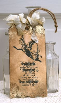 Anne's paper fun: Vintage Christmas tag...
