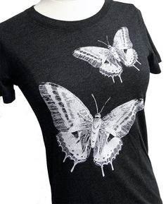 Butterfly TShirt  Ladies SOFT Shirt  Available in by friendlyoak, $16.00