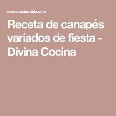 Receta de canapés variados de fiesta - Divina Cocina