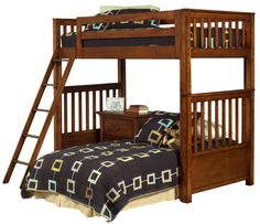 Shop Samuel Lawrence Safari Casual Light Pine Wood Ladder Bunk Bed with great price, The Classy Home Furniture has the best selection of to choose from