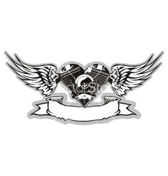 Winged motorbike symbol vector on VectorStock®