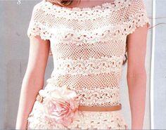 Hooked on crochet: Crochet top / Blusa en ganchillo / Blusinha de crochê