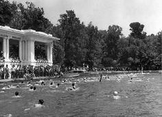 Fotos antiguas: Nadando en el Retiro | Secretos de Madrid  XVII Vuelta al Estanque del Retiro