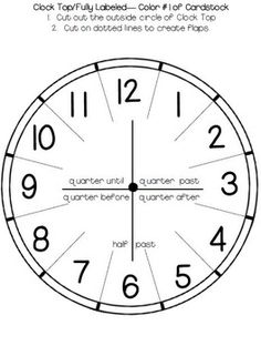 Telling Time: Clock Templates and Foldables | Óra | Pinterest ...