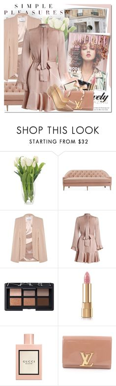 """Dress like you are already famous."" by vict0ria ❤ liked on Polyvore featuring Thomasville, Dana Gibson, Zimmermann, NARS Cosmetics, Dolce&Gabbana, Gucci, Louis Vuitton, Christian Louboutin, nude and zimmerman"