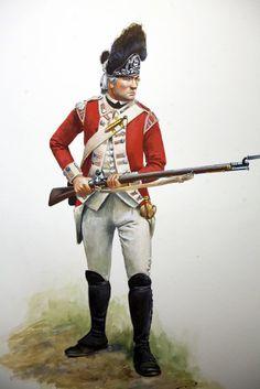 Grenadier of the 43rd Regiment of Foot 1775 — with Pete Wooldridge.
