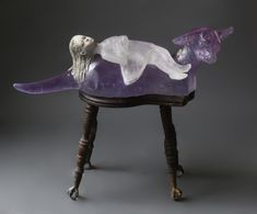 made by: Christina Bothwell , 'Dog with Passenger' - Cast Glass and ceramic. Size: 22x28x10 inches, Year: 2016 (Picture 1 of 2)