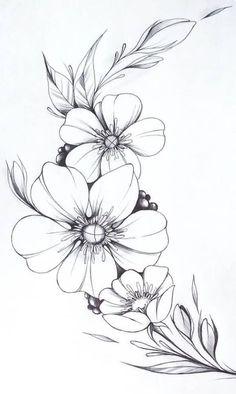 Beautiful Floral Images For Drawing - Floral Lettering Flower Art Drawing Flower Line Drawings Magnolia Dessin Floral Fleur A Colorier Dessin Fleur Doodle Flower Pattern Beautiful Floral D.