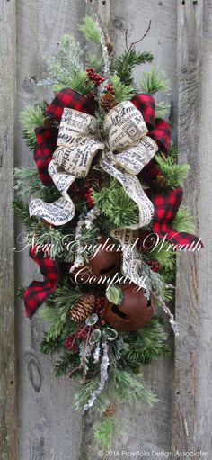 Sturbridge Manor Holiday Swag ~A New England Wreath Company Designer Original~