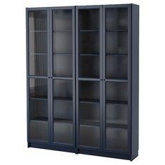 BILLY Bookcase - dark blue - IKEA