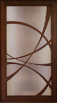 Laser cut timber doors intricately cut and designed for Door design cnc