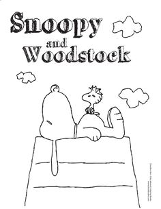 woodstock and snoopy coloring pages - photo#38