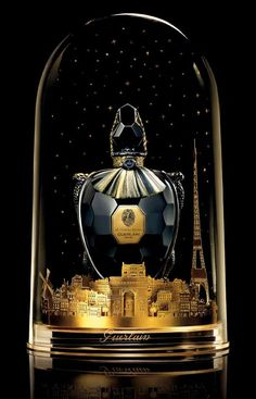 Parfum du 68 1l bottle, black crystal tortoise body by Baccarat - the original Champs-Elysees was in a tortoise bottle in 1914. Only 30 were made.