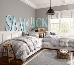 Harper Painted Letters... Perfect for sibling bedrooms