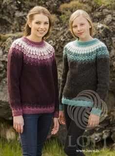 The body and sleeves are knitted in the round, connected together for the circular yoke. Knitting Kits, Fair Isle Knitting, Knitting Designs, Knit In The Round, Sweater Design, Knitting For Beginners, Diy Crochet, Wool Yarn, Dress Making