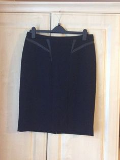 94fbe8cbb M&S SIZE 14 LADIES LINED BLACK PENCIL SKIRT #fashion #clothing #shoes  #accessories