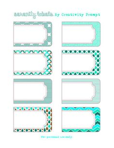 Freebie Serenity Printable Labels  http://www.creativityprompt.com/friday-freebie-serenity-printable-labels/
