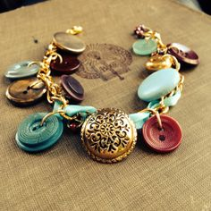 The Mulberry Coach  Vintage Button Charm by thelibraryfaerie, $22.99