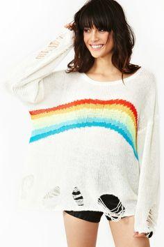 nasty gal. rainbow dreamer knit. #fashion