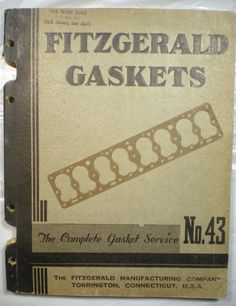 Fitzgerald Manufacturing Co Gaskets Service Guide Catalog Asbestos 1940 RARE | eBay